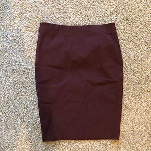 ASOS burgundy pencil skirt